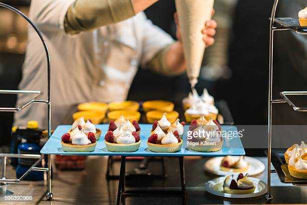 fresh meringues - french food stock pictures, royalty-free photos & images