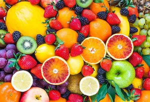 Fresh mixed fruits. 467652436
