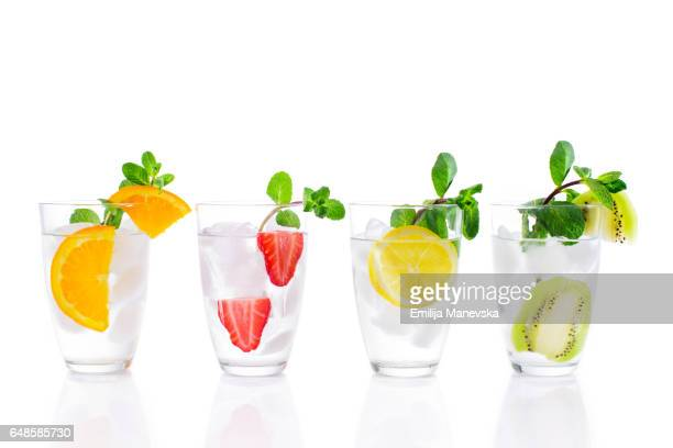 Fresh Mocktails on white background
