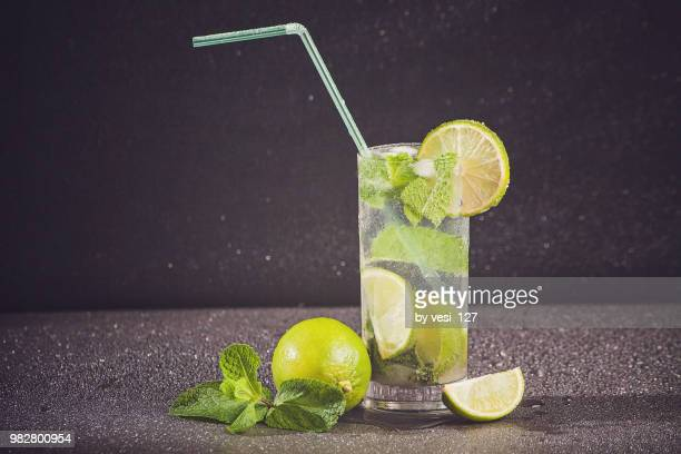 fresh mojito cocktail - mojito stock photos and pictures