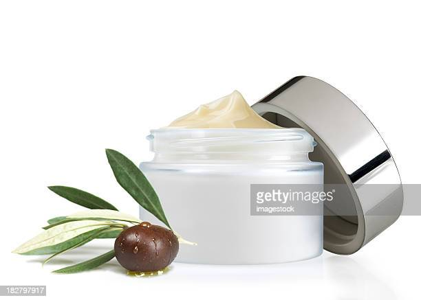 A fresh new open olive oil face cream