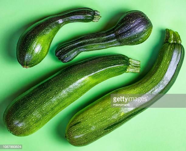 Fresh, Organic courgettes, Zucchini