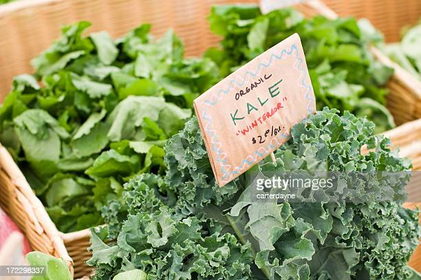 Fresh Organic kale at farmers market
