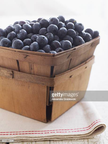Fresh organic Maine blueberries