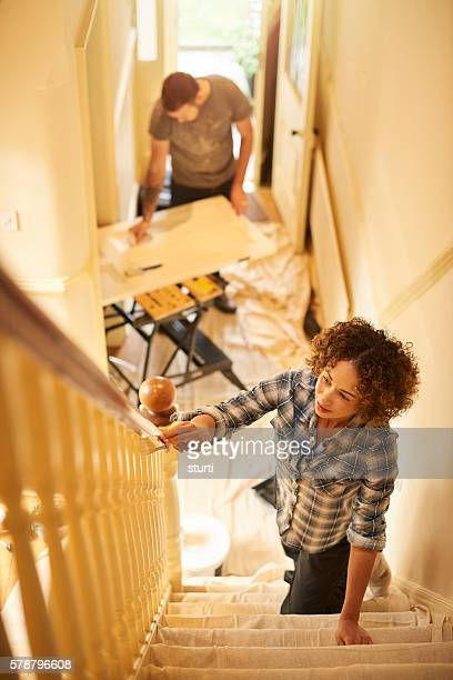 fresh paint new start - heterosexual couple photos stock photos and pictures