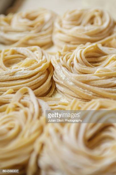 Fresh pasta being made in a Rome restaurant.