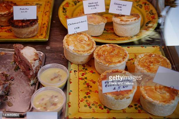 fresh pastries and pies for sale - helena price stock-fotos und bilder