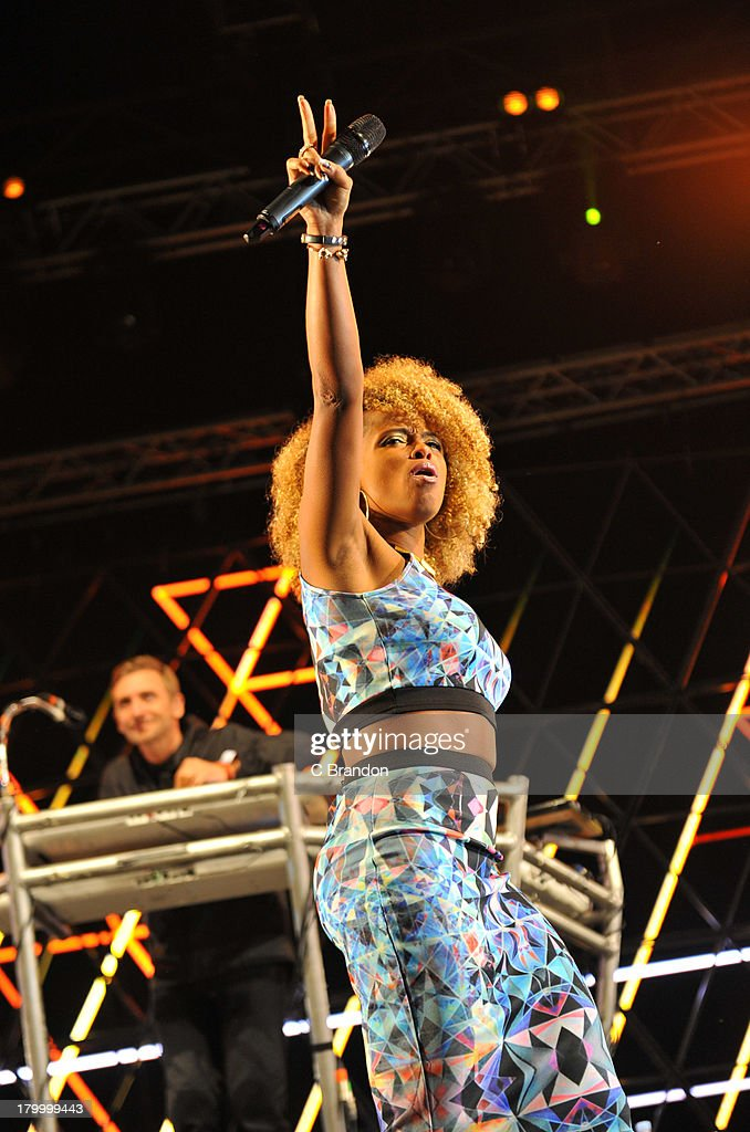 DJ Fresh performs on stage during Day 3 of Bestival 2013 at Robin Hill Country Park on September 7, 2013 in Newport, Isle of Wight.