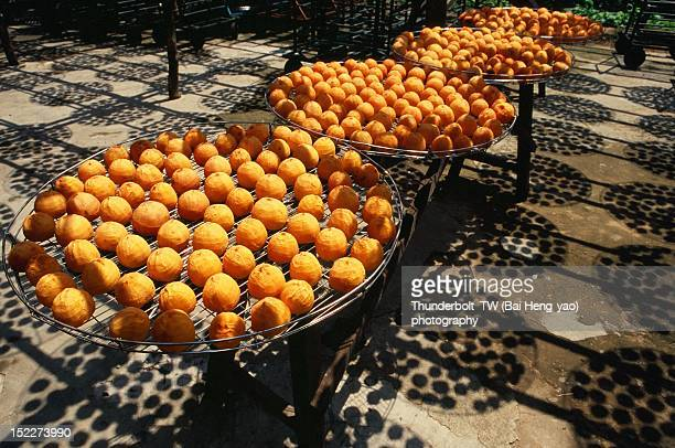 Fresh persimmon fruits