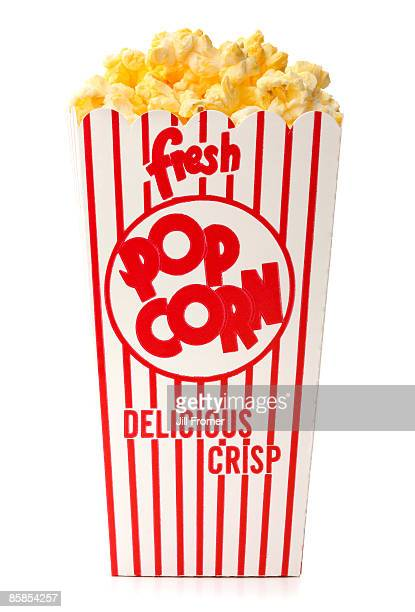 Fresh Popcorn Isolated on White