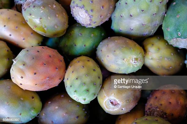 Fresh prickly pears for sale on the market