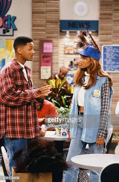 AIR Fresh Prince After Dark Episode 9 Pictured Will Smith as William 'Will' Smith Tyra Banks as Jackie Ames