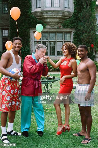 AIR 'Fresh Prince After Dark' Episode 9 Pictured Will Smith as William 'Will' Smith Hugh Hefner as Himself Karyn Parsons as Hilary Banks Alfonso...