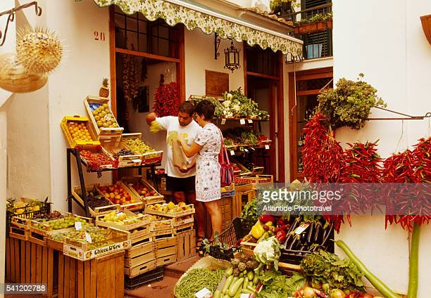 Fresh Produce at Grocery in Amalfi