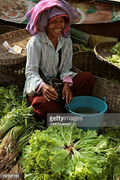 Fresh produce at the Morning Market in Siem Reap Fresh markets are scattered throughout residential neighborhoods in Cambodian as well as other Asian...