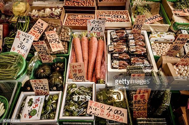 新鮮な食材に、東京の築地市場