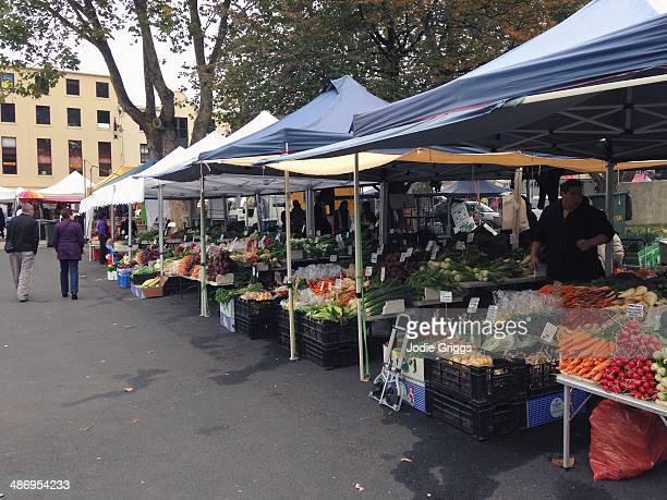 Fresh produce for sale at Salamanca Market in Hobart