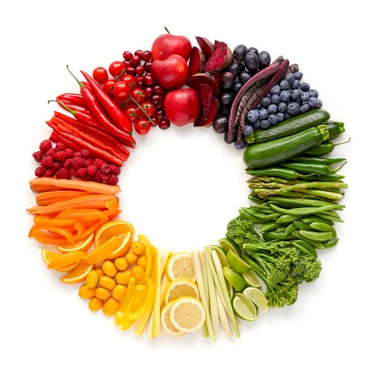Fresh produce in a circle - gettyimageskorea