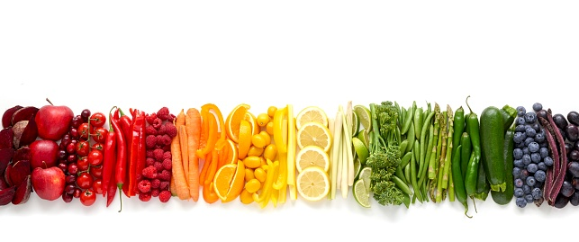 Fresh produce in a line - gettyimageskorea