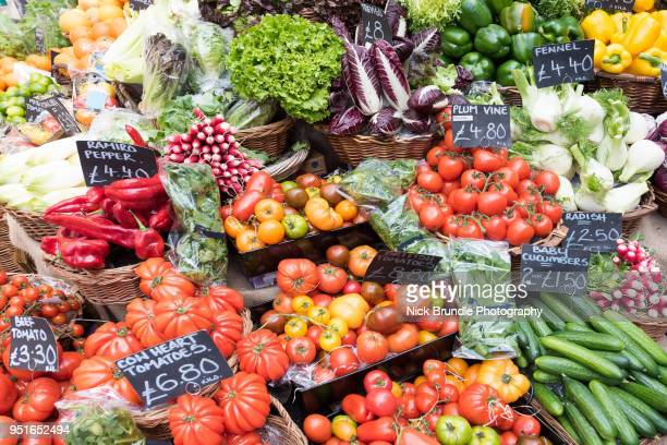 fresh produce - borough market stock pictures, royalty-free photos & images