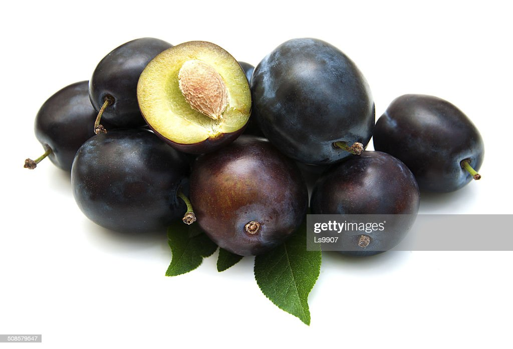 Fresh purple plums : Stockfoto