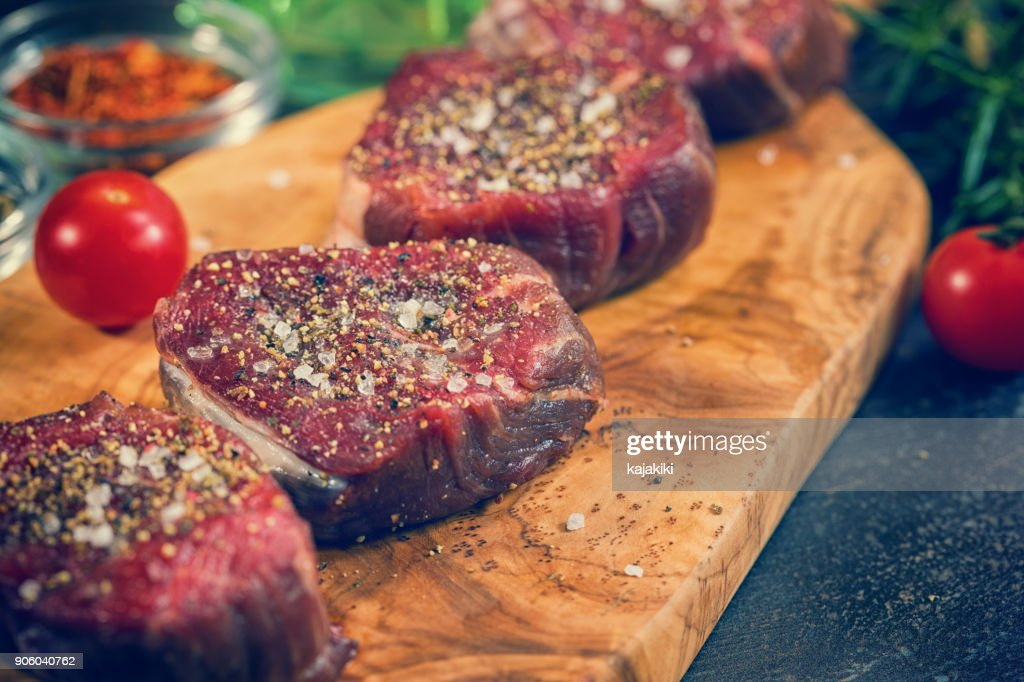 Fresh Raw Beef Steak Fillet : Stock Photo