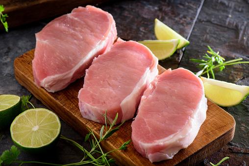 Fresh Raw Pork Loin 490279444