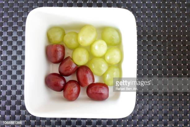 Fresh Red and Green Grape Fruit