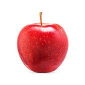 Fresh red apple fruit isolated on white background