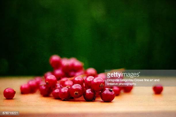 fresh red currants - gregoria gregoriou crowe fine art and creative photography. - fotografias e filmes do acervo