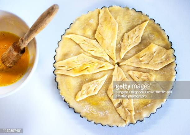 fresh rhubarb pie - gregoria gregoriou crowe fine art and creative photography. stock pictures, royalty-free photos & images