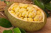 Fresh ripe jackfruit. Fresh sweet jackfruit segment ready for eat.
