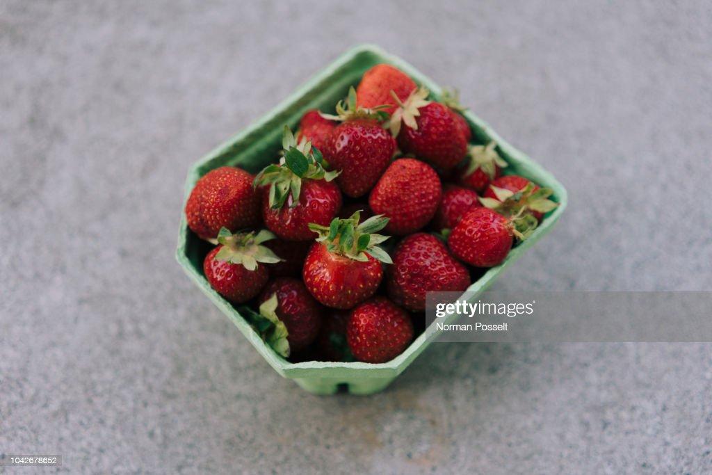Fresh, ripe red strawberries : Stock Photo