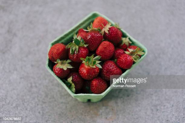 Fresh, ripe red strawberries