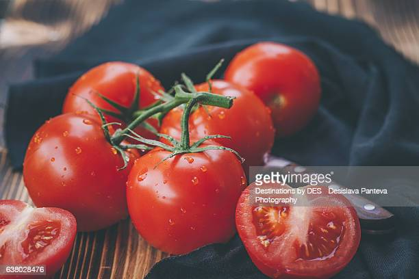 Fresh ripe red tomatoes
