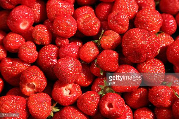 fresh ripe strawberries newly picked - pejft stock pictures, royalty-free photos & images