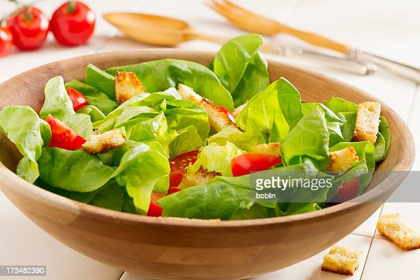 fresh salad - green salad stock pictures, royalty-free photos & images