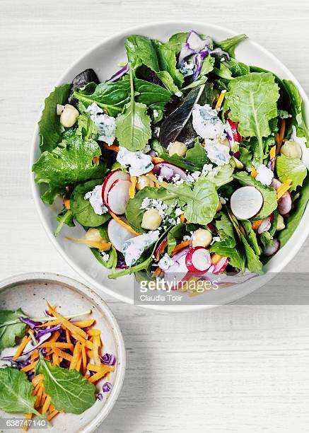 fresh salad - salad bowl stock pictures, royalty-free photos & images