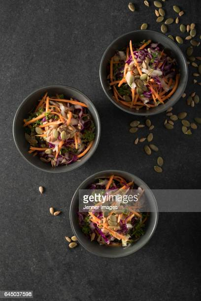 fresh salad. - black seed oil stock pictures, royalty-free photos & images
