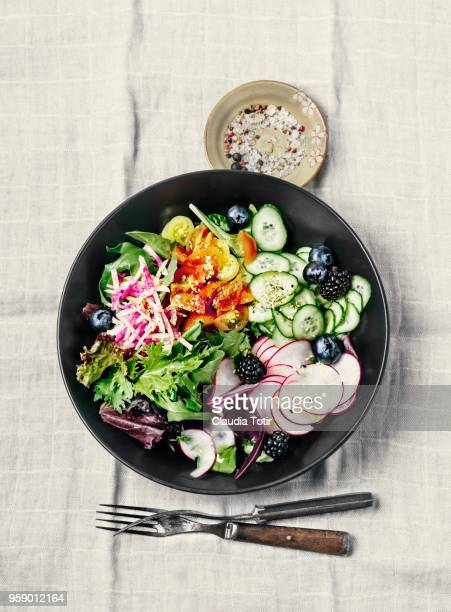 fresh salad - savory food stock pictures, royalty-free photos & images