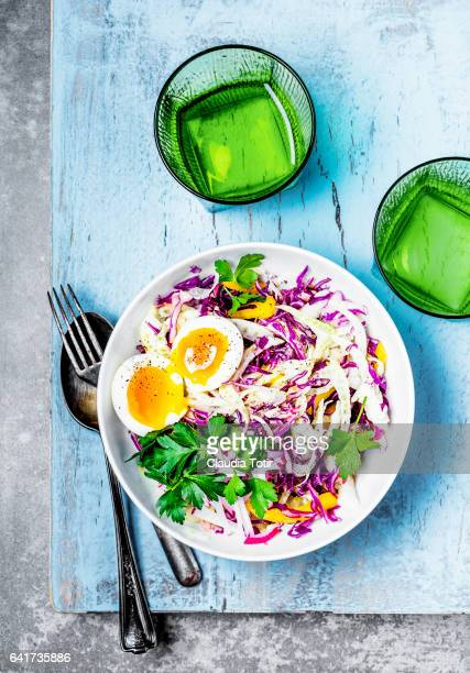 Fresh salad with boiled eggs