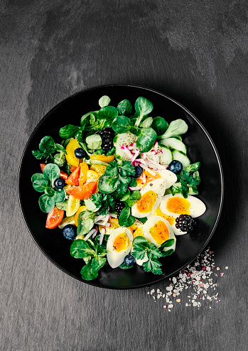 Fresh salad with eggs - gettyimageskorea