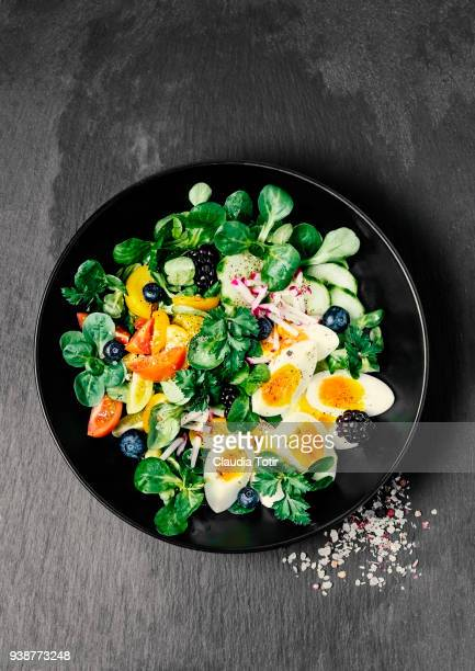 Fresh salad with eggs