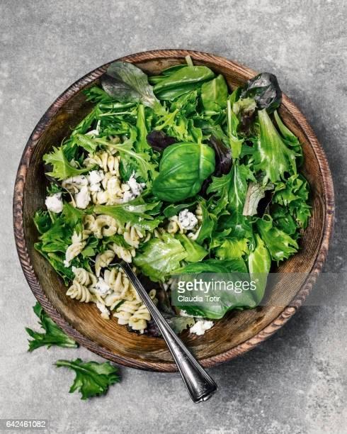 Fresh salad with pasta
