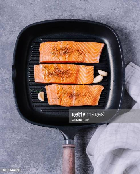 fresh salmon - cooked stock pictures, royalty-free photos & images