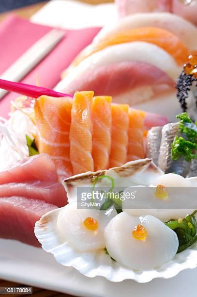 fresh sashimi - sashimi stock pictures, royalty-free photos & images