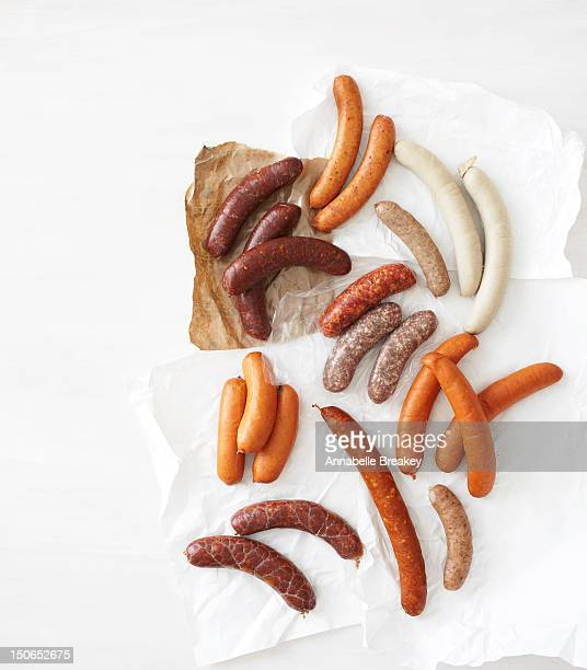 Fresh Sausage on White Background
