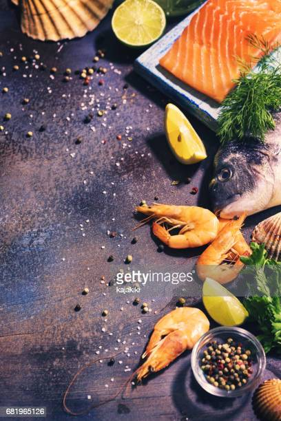 Fresh Seafood Background