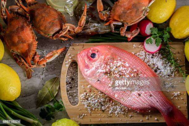 Fresh Snapper with Salt and Spices