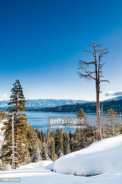 Fresh snow and Emerald Bay